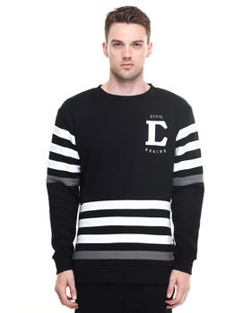 DJP OUTLET - League Applique Side Split Crewneck