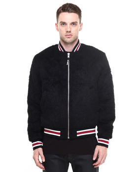-FEATURES- - Faux Mohair Varsity Jacket