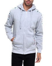 Basic Essentials - Fleece Full-Zip Hoodie w/ Aztec Trim