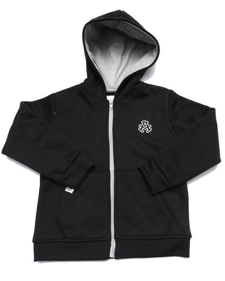Akademiks - Boys Black Full Zip Fleece Hoody (2T-4T)