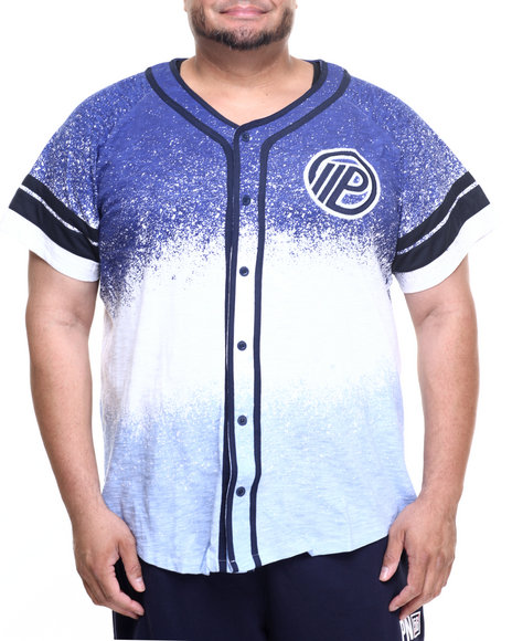 Parish - Men Blue Ocean Spray Baseball Raglan (B&T) - $65.99