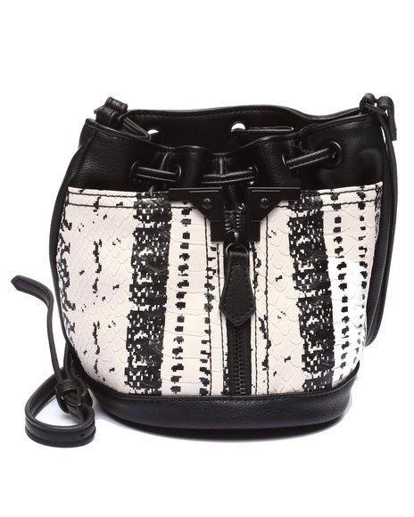 Danielle Nicole Women Exotic Prints Mini Bucket Black