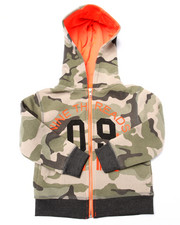 Hoodies - CAMO FULL ZIP HOODY (4-7)