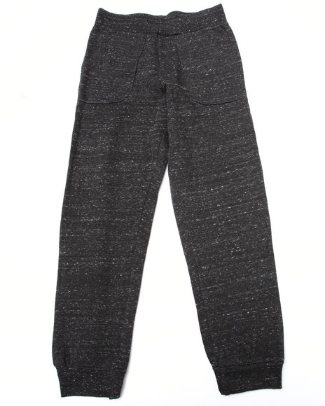 Nine Threads - Boys Grey Melange Fleece Jogger (8-20)