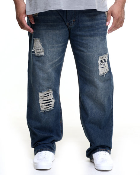Rocawear - Men Medium Wash Haze Jeans (B&T)