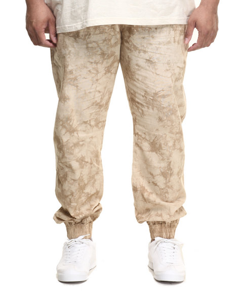 Parish - Men Khaki Linen Tie Die Jogger Pant (B&T)
