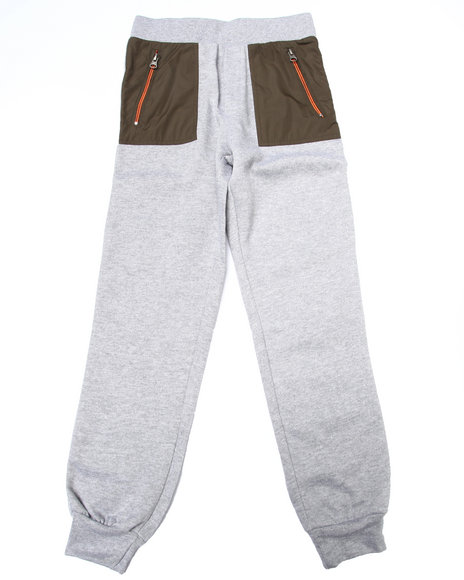 Nine Threads - Boys Grey Jogger W/ Nylon Pockets (8-20)