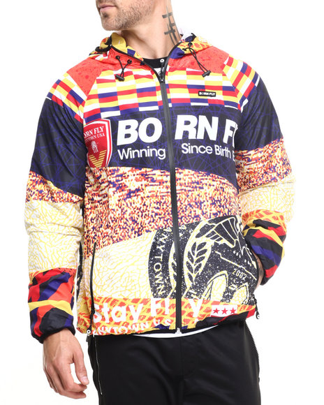 Born Fly - Men Black,Multi Kalahari Jacket