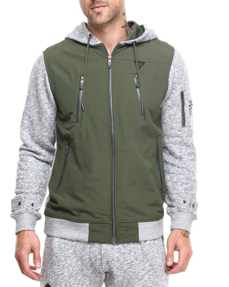 Born Fly - Men Grey Harrison Zip Hoodie