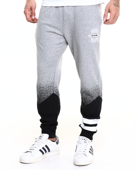 Parish - Men Grey Colorblock Sweatpant