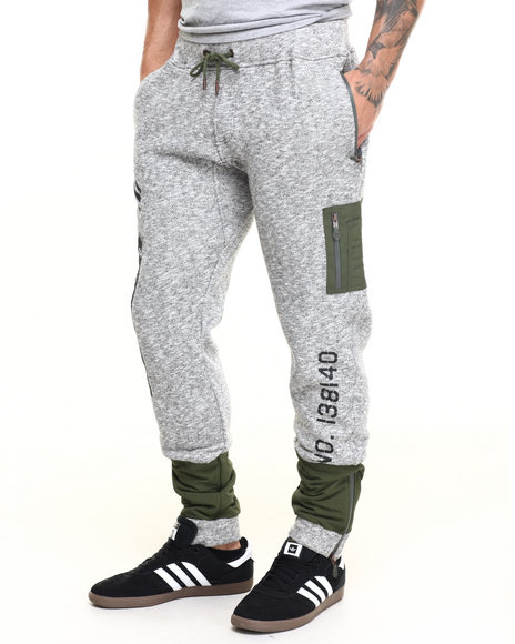Born Fly - Men Grey Grant Joggers