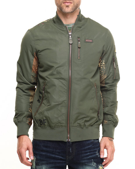 Born Fly - Men Olive Ogaden Jacket