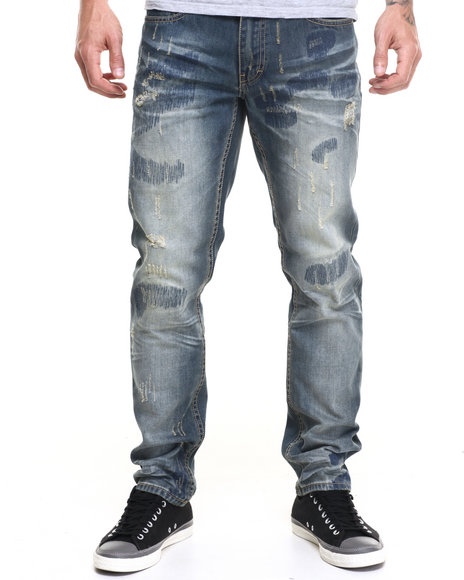 Born Fly - Men Medium Wash Coop Denim Jeans