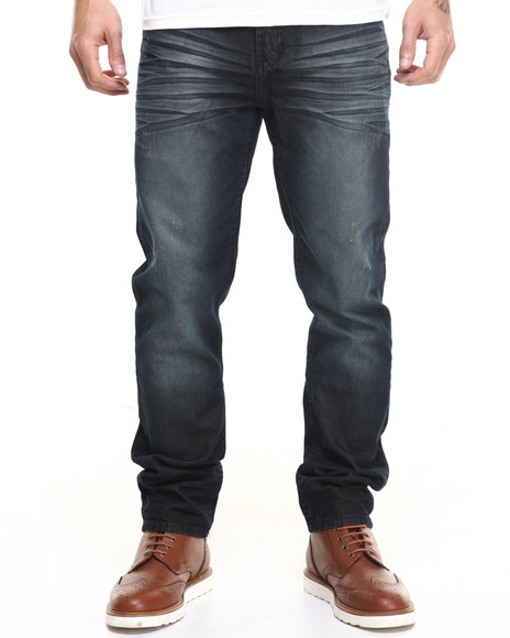 Parish - Men Dark Wash Coated Denim Jean - $58.00