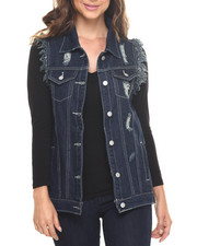 Fashion Lab - Rebel Oversized Destructed Denim Vest