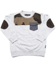 Sizes 4-7x - Kids - SWEATSHIRTS W/ CAMO YOKE (4-7)