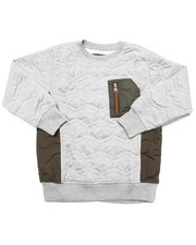 Boys - QUILTED SWEATSHIRT W/ NYLON POCKET (8-20)