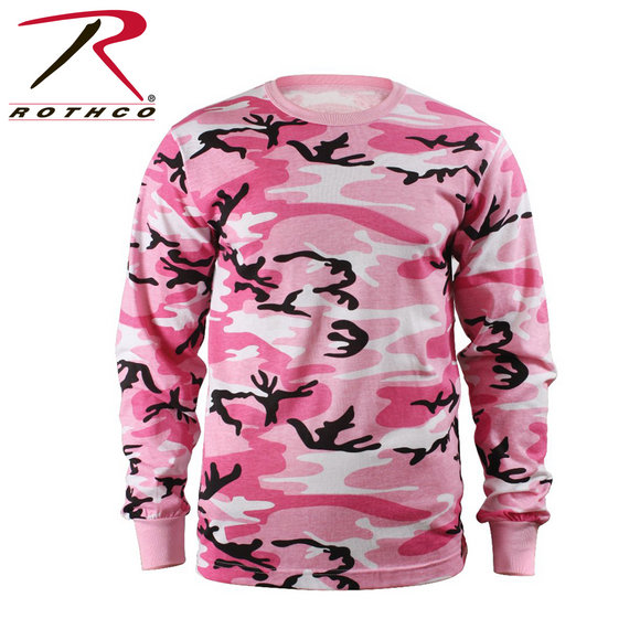 Rothco Men Rothco Long Sleeve Camo T-Shirt Pink Large