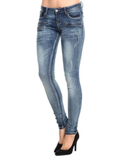 Bottoms - Zipper Front Skinny Jean