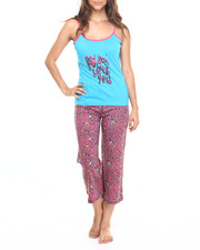Intimates & Sleepwear - I Love You Animal Print Cotton Capri PJ Set