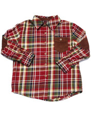 Long-Sleeve - L/S PLAID WOVEN (4-7)