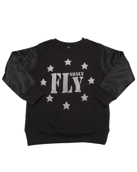 Srsly Fly - Boys Black Srsly Fly Stars Sweatshirt (8-20)