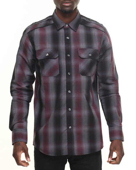 Buyers Picks - Men Maroon Whitechapel Plaid Shirt