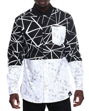 Buyers Picks - Crackle - Print L/S Button - Down