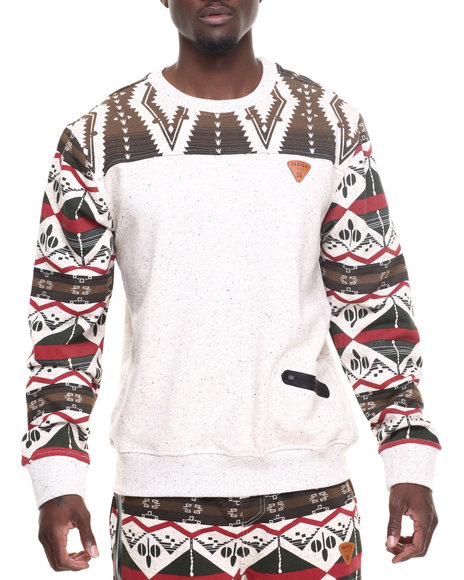 Parish - Men Khaki Printed Sweatshirt
