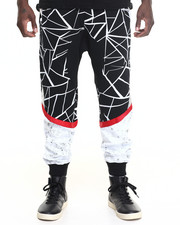 Men - Crackle - Print Fleece Joggers