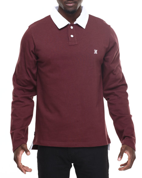 The Hundreds - Men Maroon Valor L/S Rugby