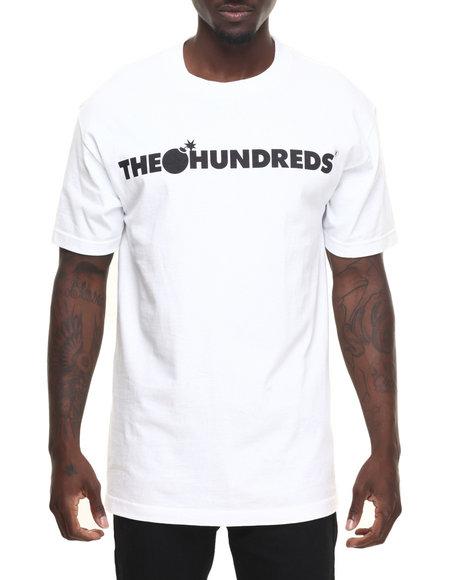 The Hundreds - Men White Forever Bar Logo Tee
