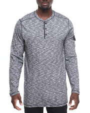 Men - Noir Long Henley