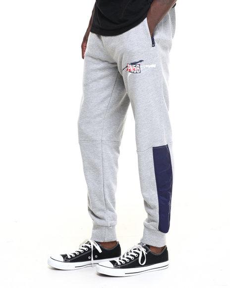 Parish - Men Grey,Navy Graphic Sweatpant - $38.99