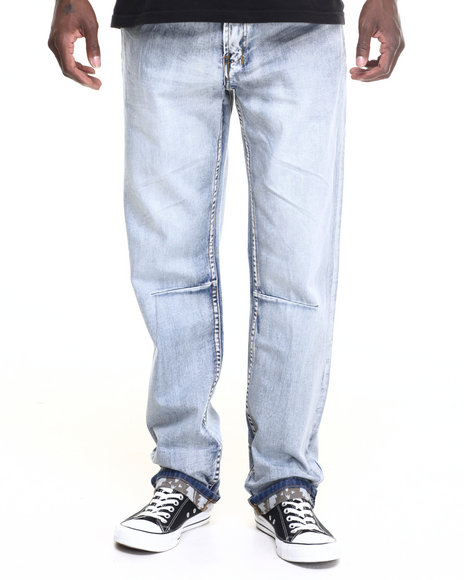 Parish - Men Light Wash Terrain Denim Jean