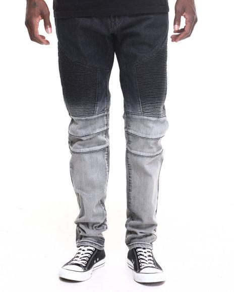 Buyers Picks - Men Black Square Zero Dip - Dye Moto - Style Denim Jeans