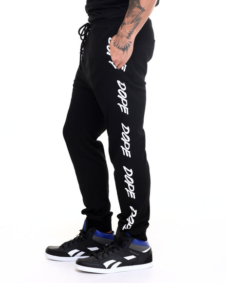 Dope - Men Black Tagged Sweatpants
