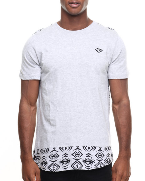 Enyce - Men Grey Wish Bone Long T-Shirt