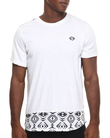 Enyce - Men White Wish Bone Long T-Shirt