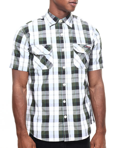 Enyce Green Button-Downs