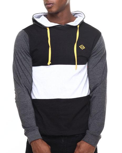 Enyce - Men Black Puff L/S T-Shirt Hoodie