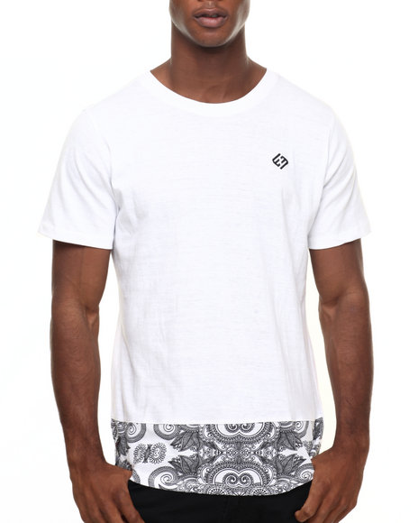 Enyce - Men White Krazie Bone Long T-Shirt - $9.99