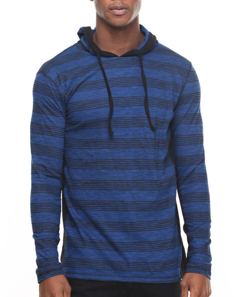Buyers Picks - Men Blue Jasper Stripe Hoodie