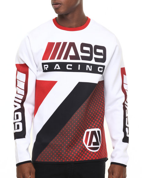 Akademiks - Men White Galaxy Ponte L/S Shirt