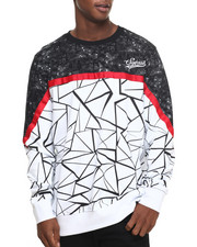 Men - Crackle - Print Crewneck Sweatshirt