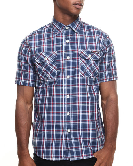 Enyce - Men Navy Roxanne Shante S/S Button-Down