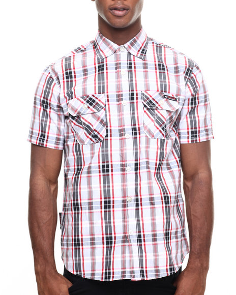 Enyce - Men Grey Marley Marl S/S Button-Down
