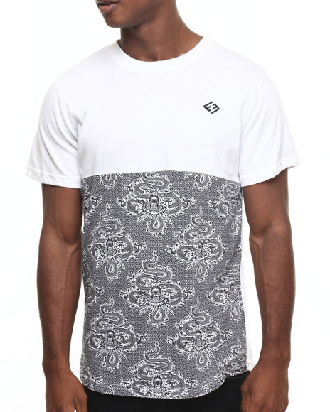 Enyce - Men White Cross Road Long T-Shirt - $11.99
