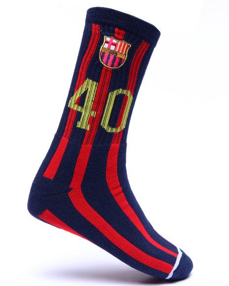 40S & Shorties Men Barca Socks Red