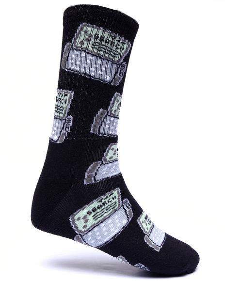 40S & Shorties Men Sidekick Socks Black